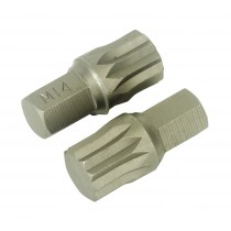 SPLINE BIT M14 X 30MM PACK OF 2 FROM SEALEY AK5532 SYSP
