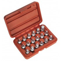 SEALEY AK6564 ONE-PIECE SOCKET BIT SET 18PC 1-4 INCH SQ DRIVE