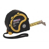 RUBBER MEASURING TAPE 7.5MTR(25FT) X 25MM METRIC/AF FROM SEALEY AK990 SYSP