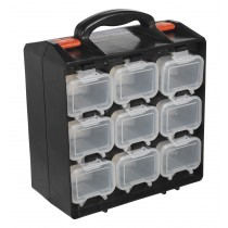 SEALEY APAS18 ASSORTMENT CASE 18 COMPARTMENT DOUBLE SIDED