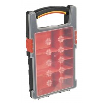SEALEY APAS1R PARTS STORAGE CASE WITH 9 REMOVABLE COMPARTMENTS