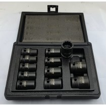 "12PC 3/8"" DRIVE 12 POINT IMPACT SOCKET SET 8-19MM CR-MO FROM CUSTOR TOOLS"