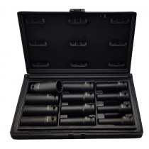 "12PC 1/2"" DRIVE DEEP IMPACT SOCKET SET (12 POINT) CR-MO FROM CUSTOR TOOLS"