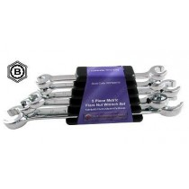 5 PIECE FLARE NUT SPANNER WRENCH SET FROM BRITOOL HALLMARK REFMSET5