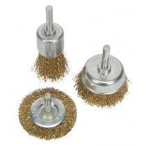 WIRE BRUSH SET 3PC BRASSED FROM SEALEY BWBS03 SYSP