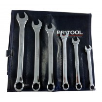 AF COMBINATION SPANNER SET 6 PIECE WITH HEXAGON RING IN WALLET BRITOOL HALLMARK CEHSET6