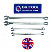BRITOOL ENGLAND EXTRA LONG AF COMBINATION SPANNER SET WITH BI-HEXAGON (12 POINT) RING
