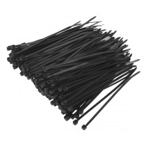 CABLE TIE 100 X 2.5MM BLACK PACK OF 200 FROM SEALEY CT10025P200 SYSP