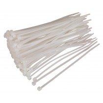 CABLE TIE 150 X 3.6MM WHITE PACK OF 100 FROM SEALEY CT15036P100W SYSP