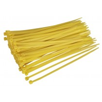 CABLE TIE 200 X 4.8MM YELLOW PACK OF 100 FROM SEALEY CT20048P100Y SYSP