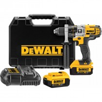 DEWALT 18V XR LI-ION PREMIUM HAMMER DRILL DRIVER KIT + FREE SOCKET ADAPTER SET