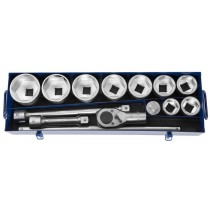 "1"" DRIVE 14 PIECE METRIC SOCKET & RATCHET SET FROM FACOM EXPERT"