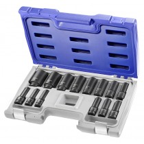 "1/2"" DRIVE 14PC DEEP METRIC IMPACT SOCKET SET 10-32MM FACOM EXPERT"