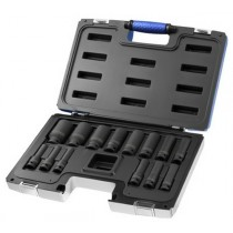 1/2 INCH DEEP IMPACT SOCKET SET IN CARRY CASE 10 TO 32MM BRITOOL EXPERT