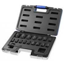 BRITOOL EXPERT E041603 17 PIECE 1/2 IMPACT SOCKET SET 10 TO 32MM PLUS EXTENSION BAR