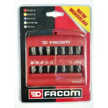 FACOM E.120PB SCREWDRIVER BIT SET (TORX, PHILLIPS, HEX / ALLEN, PZ POZI, SLOTTED)**