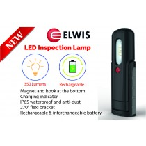 POWERFUL RECHARGEABLE LED INSPECTION LAMP / LIGHT 350 LUMENS ELWIS