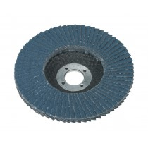FLAP DISC ZIRCONIUM DIA.100MM 16MM BORE 40GRIT FROM SEALEY FD10040 SYSP