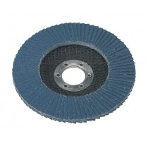 FLAP DISC ZIRCONIUM DIA.115MM 22MM BORE 80GRIT FROM SEALEY FD11580 SYSP