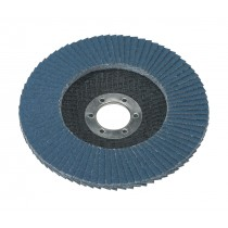 FLAP DISC ZIRCONIUM DIA.125MM 22MM BORE 40GRIT FROM SEALEY FD12540 SYSP