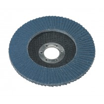 FLAP DISC ZIRCONIUM DIA.125MM 22MM BORE 60GRIT FROM SEALEY FD12560 SYSP