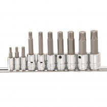 "10 PIECE ¼"" & 3/8"" RIBE BIT SOCKET SET FROM GENIUS TOOLS"