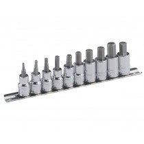 10PC 3/8 INCH DR. AF HEX / ALLEN BIT SOCKET SET GENIUS TOOLS BS-310HS