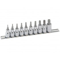 GENIUS TOOLS BS-310T 10PC 3/8 INCH DR. STAR BIT SOCKET SET