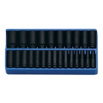 "GENIUS TOOLS DI-425M 25 PIECE 1/2"" DEEP IMPACT SOCKET SET 8-36MM"