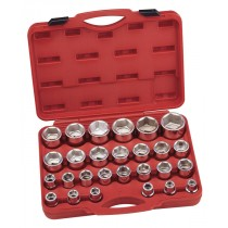 "SOCKET SET 17-60MM 27 PIECES 3/4"" SQ DR FROM GENIUS TOOLS GS-627M"