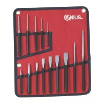 GENIUS TOOLS PC-514M 14PC METRIC PUNCH & CHISEL SET