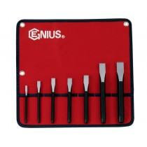 GENIUS TOOLS PC-567F 7PC FLAT CHISEL SET