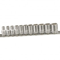 "1/4"" SOCKET SET (12 POINT) FROM GENIUS TOOLS"