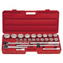 "3/4"" SOCKET & ACCESSORY SET GENIUS TOOLS TW-625M"