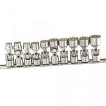 GENIUS TOOLS US-310M 10PC 3/8 INCH DR. METRIC UNIVERSAL FLEXI HAND SOCKET SET (12-POINT)