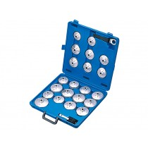 ALUMINIUM OIL FILTER CAP WRENCH SET 21 PIECE BRITOOL HALLMARK HMAOF21