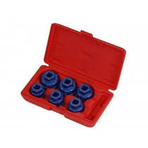 "ALUMINIUM OIL FILTER CAP SOCKET SET 6 PIECES 1/2"" SQ DR BRITOOL HALLMARK HMAOF6"