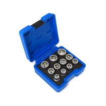 11PC BOLT GRIPPING SOCKET EXTRACTOR SET FOR REMOVAL OF DAMAGED / ROUNDED NUTS