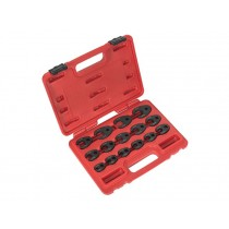 "15 PIECE 3/8"" & 1/2"" CROWS FOOT SPANNER WRENCH SET 8-24MM FROM BRITOOL HALLMARK"