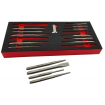 15 PIECE HEAVY DUTY PUNCH & CHISEL SET BRITOOL HALLMARK