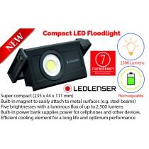 LEDLENSER RECHARGEABLE COMPACT LED FLOODLIGHT 2500 LUMENS