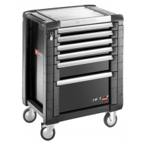 FACOM TOOLS JET.6GM3 6 DRAWER BLACK ROLL CAB