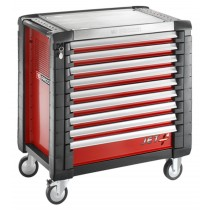 FACOM TOOLS JET.9M4 9 DRAWER RED ROLL CAB