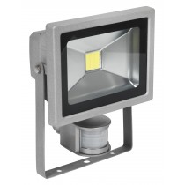 SEALEY LED120S COB LED FLOODLIGHT WITH WALL BRACKET & PIR SENSOR 20W 230V