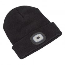 BEANIE HAT WITH RECHARGEABLE SPOTLIGHT