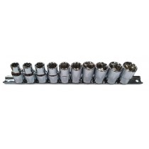 BRITOOL HALLMARK LHMSET10 1/2 INCH SQ DR SOCKET SET 10-19MM
