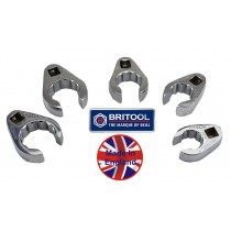 """BRITOOL ENGLAND 3/8"""" SD AF FLARED CROW FOOT WRENCH SET"""