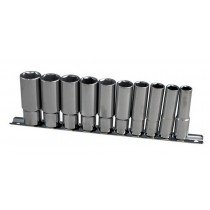 "DEEP SOCKET SET 3/8"" DRIVE SIZES 10-19MM FROM BRITOOL HALLMARK"