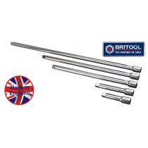 "3/8"" DRIVE EXTENSION BAR SET 75, 100, 250, 300, 450MM BRITOOL ENGLAND"