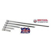 "3/8"" DRIVE EXTENSION BAR SET 75, 100, 150, 300, 450MM BRITOOL ENGLAND"
